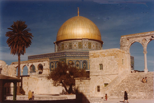The Dome of the Rock on the Temple Mount in Jerusalem. Photo courtesy of James R. Wilson.