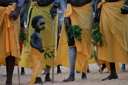 A young dancer at the Garma Festival, an international celebration of the Aboriginal culture at Northern Australia's Grove Peninsula in Arnhem Land.  © 2010 Christopher McLeod